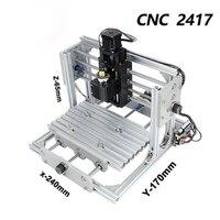 ICROAT0 Mini Machine cnc 2417,diy cnc engraving machine,3axis mini Pcb Pvc Milling Machine,Metal Wood Carving machine,cnc router