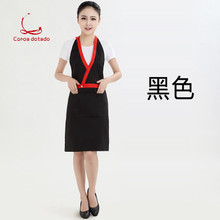 Uniform apron customized logo nail salon cosmetologist supermarket coffee shop catering waiter print