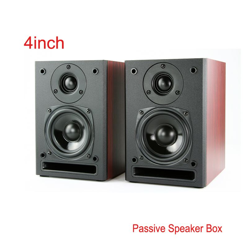 2pcs 4 Inch 6Ohm Passive Bookshelf Speaker Enthusiast Desktop Hifi Wooden Front Guide Wall Mounted Multimedia 2.0 Home Speakers