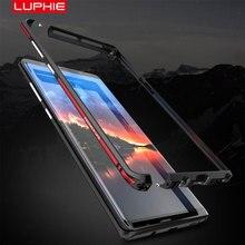 Luphie 湾曲した金属バンパーサムスンギャラクシー注 9 ケース注 8 のための iphone X Xs 最大 Xr 8 7 プラス超薄型アルミフレームカバー