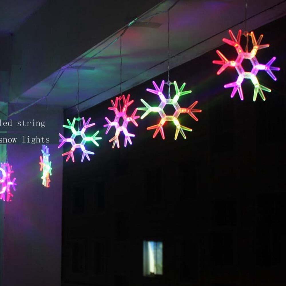 Led Fairy light snow lights string flasher rgb holiday christmas garland lighting decoration ...