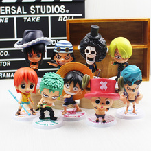 Hot Anime Animation One Piece luffy Joba 's Adventure PVC Action Figure Model Doll Toys For Kids Birthday Gifts set brinquedos
