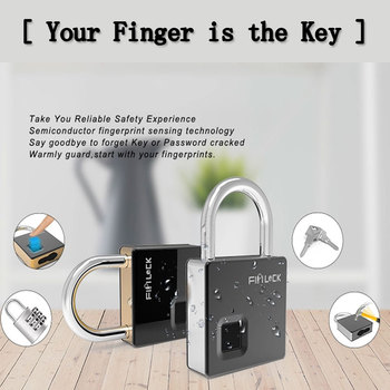 small portable lock Keyless smart Fingerprint unlock Safety protection fingerprint padlock dust-proof and waterproof