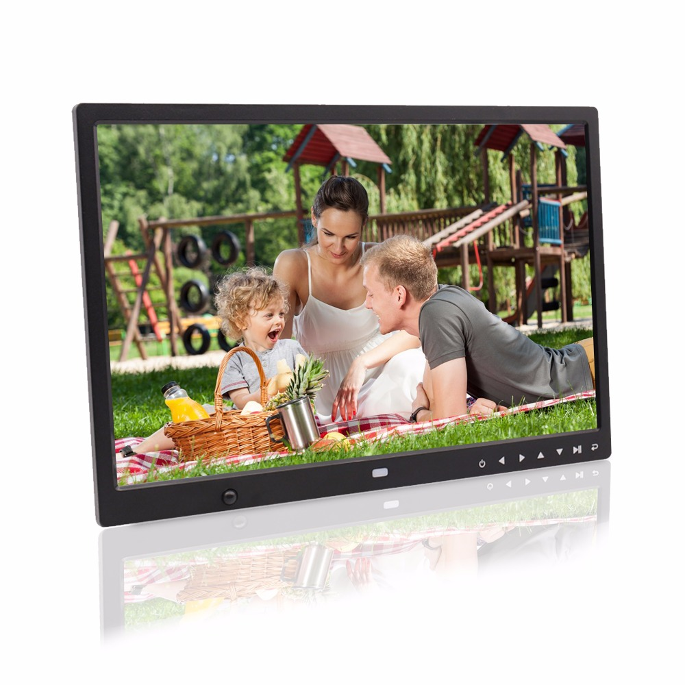 15 inch motion sensor body sensor touch buttons infront hd loop playback video picture player digital photo frame digital album