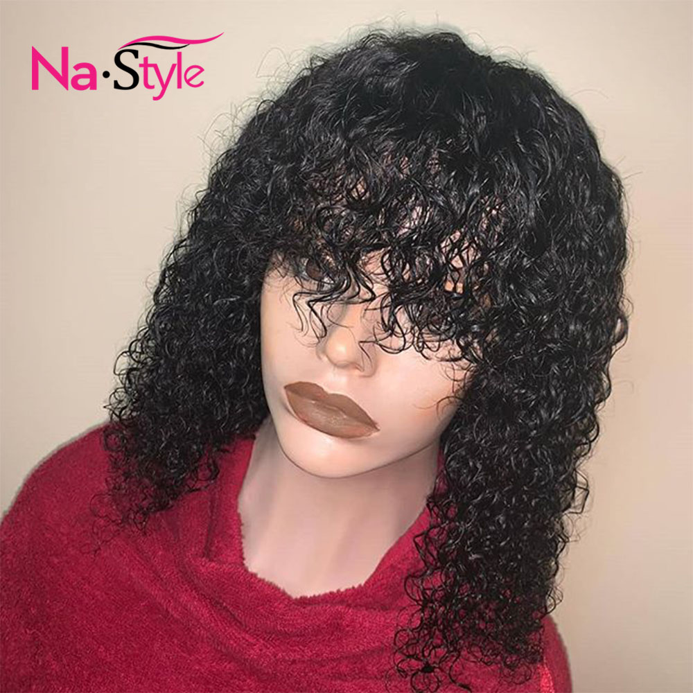 Water Wave Wig With Bangs Wet And Wavy Human Hair Lace Front Human Hair Wigs With Bang Pre Plucked Lace Wig With Baby Hair Lace Front Wigs Aliexpress
