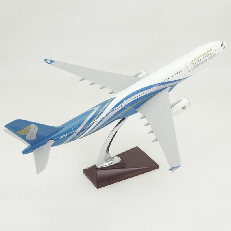 47CM 1:160 scale Airbus A330 Model OMAN AIR Airlines with Base Resin Aircraft Plane Collectible Display Model Toy Collection