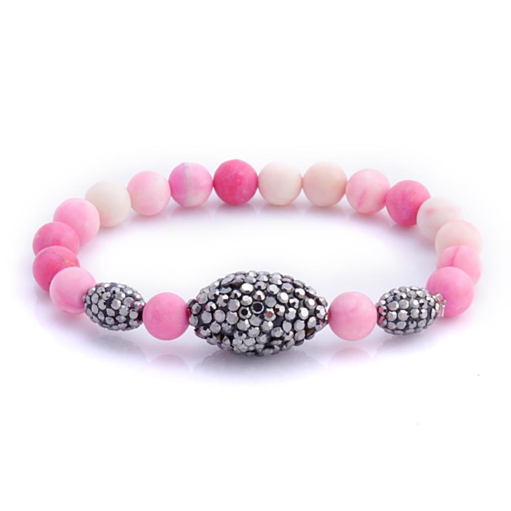 2018 Crystal Bead Bracelets for Women Vintage Bracelet Female Jewelry Tassel Natural Stone Charms Wristband Gift pulseira