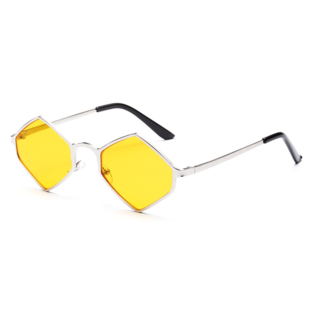 OUTEYE Vintage Hexagon Sunglasses Women Luxury Brand Designer Sun Glasses Retro Small Red Ladies Sunglass Black Eyewear Q1