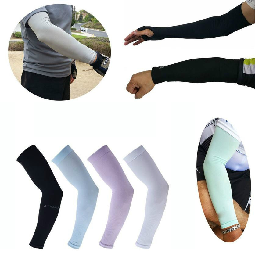 1 Pair Men Women Outdoor Sports Cooling Arm Sleeves Cover UV Sun Protection US