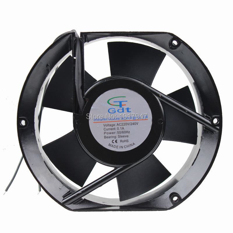 все цены на 2Pieces lot Gdstime AC 220V 240V 15CM 150MM 150x150x50mm Industrial Ventilation Cooling Fan онлайн
