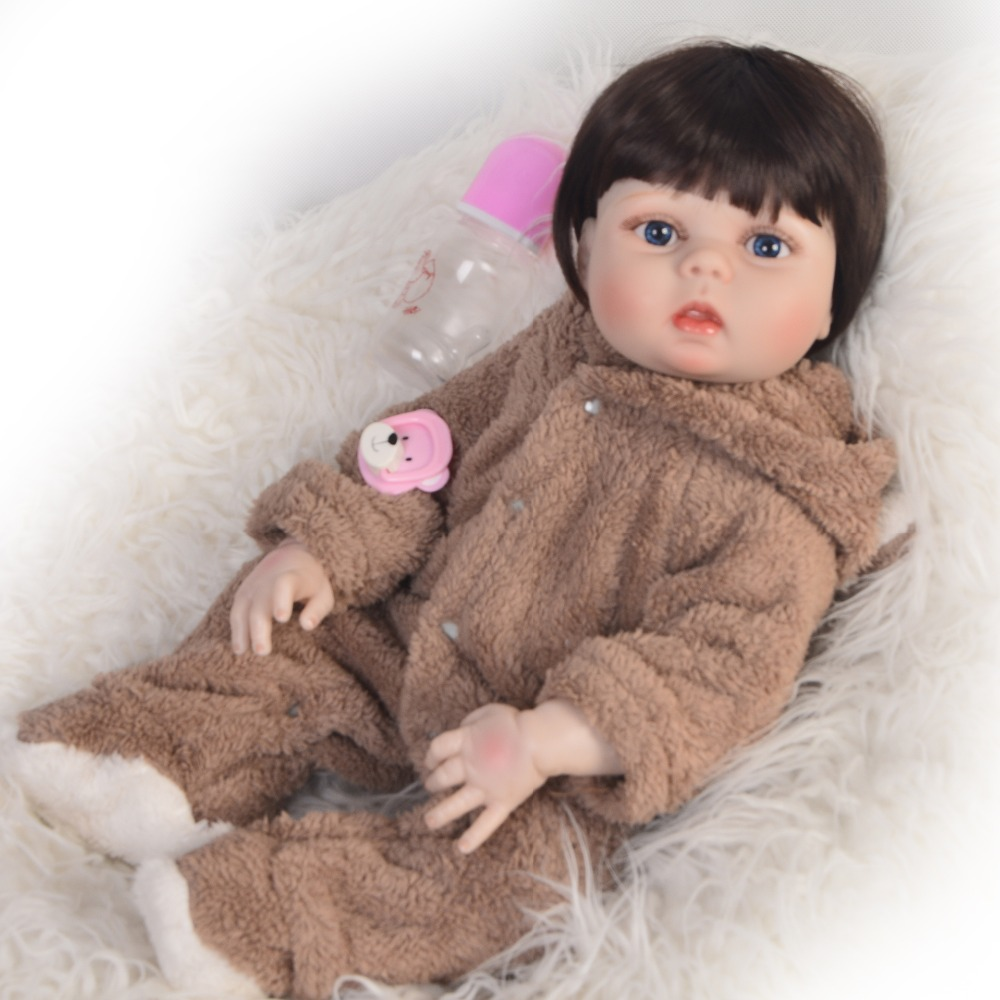 New Arrival 23 57cm Baby Girl Doll Full Silicone Body Lifelike Bebes Reborn Bonecas Handmade Baby Toy For Kids Christmas GiftsNew Arrival 23 57cm Baby Girl Doll Full Silicone Body Lifelike Bebes Reborn Bonecas Handmade Baby Toy For Kids Christmas Gifts