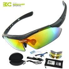 12e107fef7 BASECAMP ciclismo polarizadas gafas 3 lente hombres mujeres Bike gafas de  sol al aire libre pesca deportiva corriendo gafas