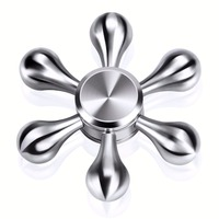 Fidget Spinner Metal Six Arm Hand Spinner EDC Long Time Rotation High Quality Hand Spinner Torqbar