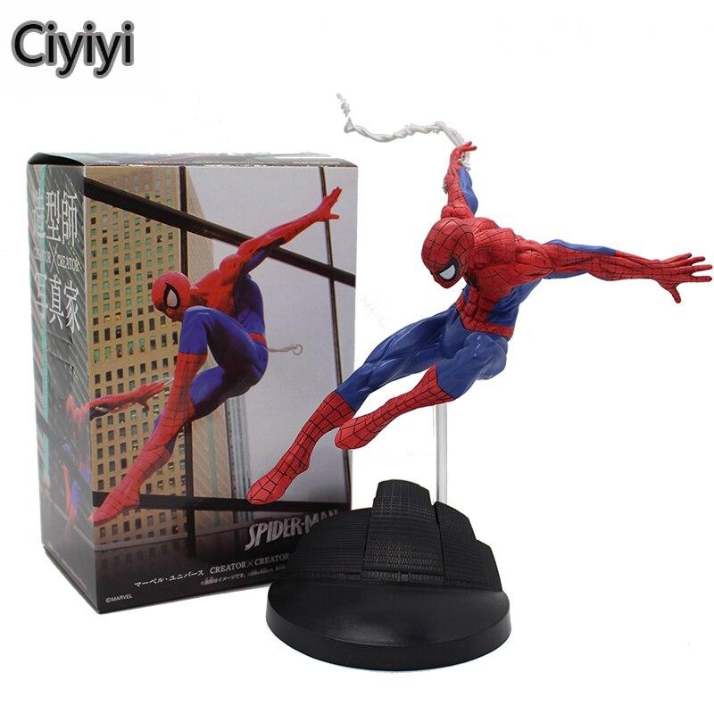15 cm l'incroyable araignée homme PVC Action Anime Jouet dessin animé araignée homme affichage Figure modèle Jouet Collection anniversaire Brinquedos