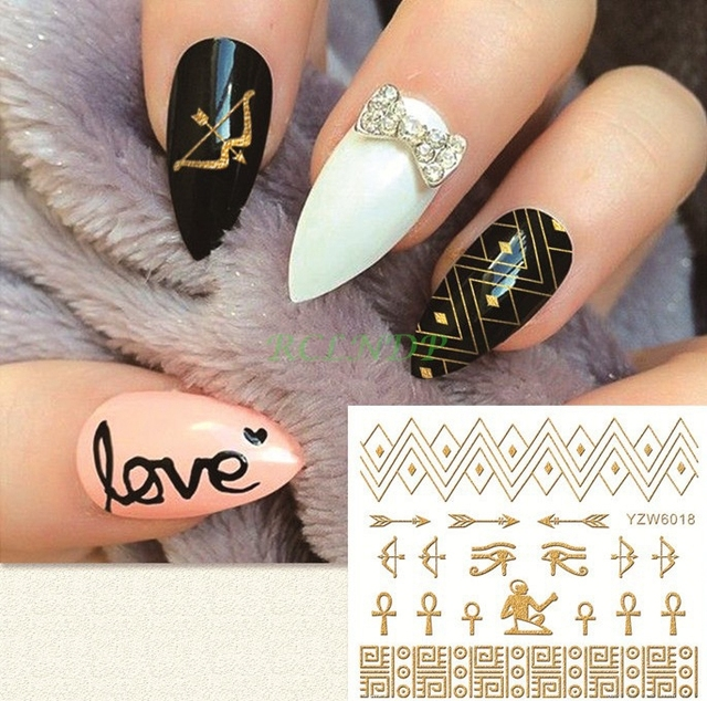 Water Sticker For Nail Art Decoration Slider Ancient Egypt Character