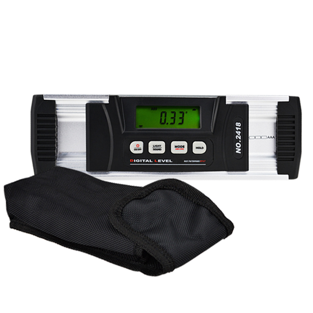 Digital Construction Angle Finder Inclinometer IP67 with Magnetic V-Groove Base Carpentry construction