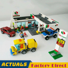 Service Station 02047 City Building Blocks Car Wash Gas Station Model Bricks Educational Toys Kids Gifts LegoINGlys 60132(China)