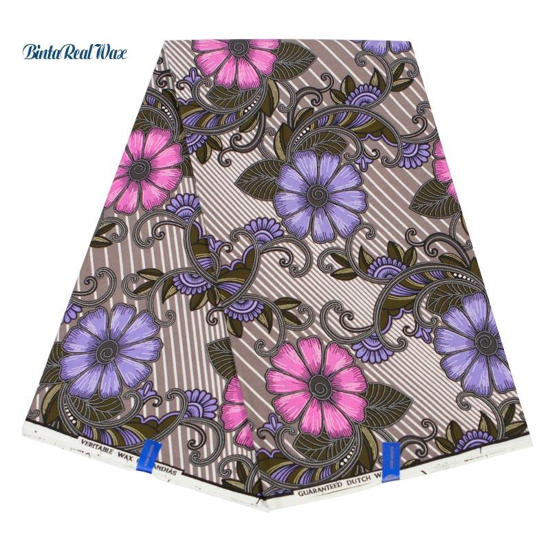 2019 New dutch Wax print 100 Cotton Fabric Vintage Printed Wax Fabric For Women Dress DIY