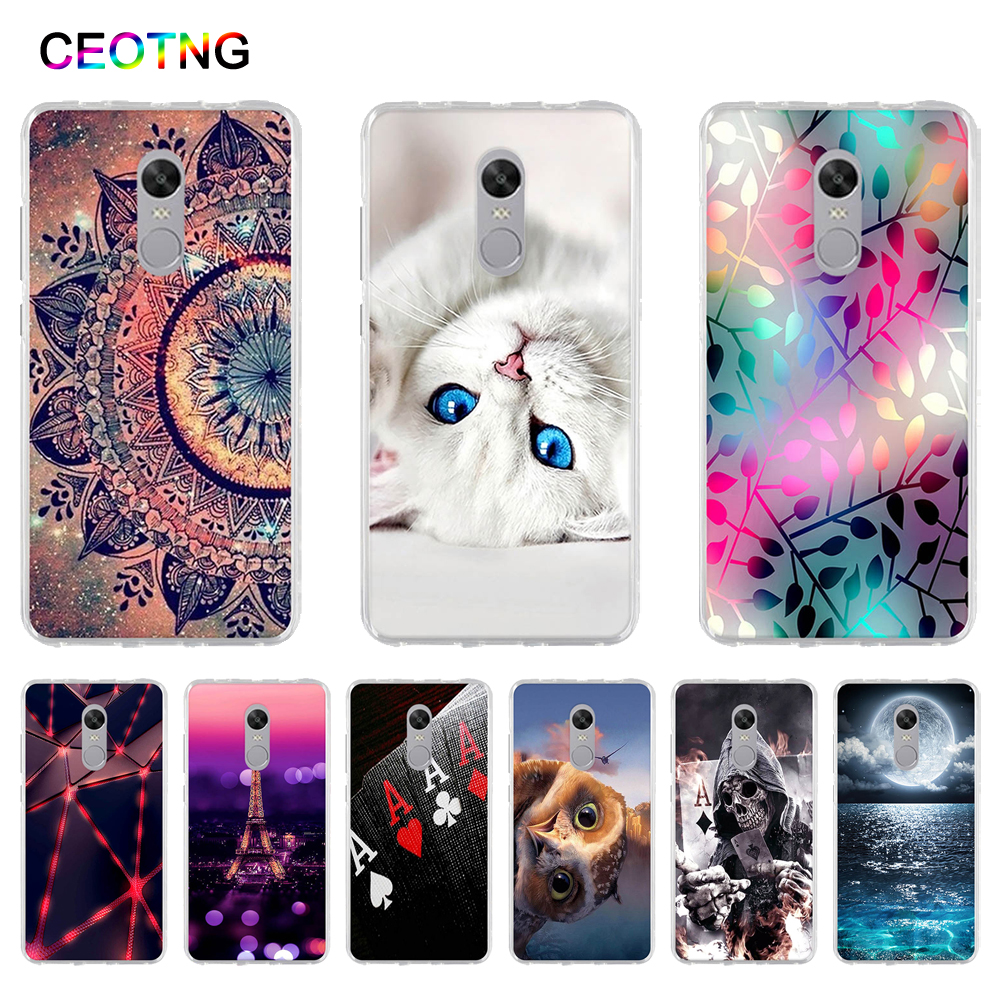 Sarung untuk Xiaomi Redmi Note 4X Case Soft TPU Back Phone Cover untuk Xiaomi Redmi Note 4 X Cover Silicone Shells Coque Fundas Note4x