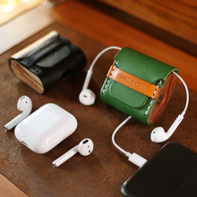 Luxury for Apple Airpods 1 2 Case Newest Retro Genuine Leather Accessories Protective Buletooth Earphone Cover Box Bags