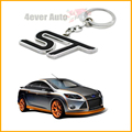 1pc Chrome Finish ST Key Chain Fob Ring Keychain For Ford Focus Fiesta