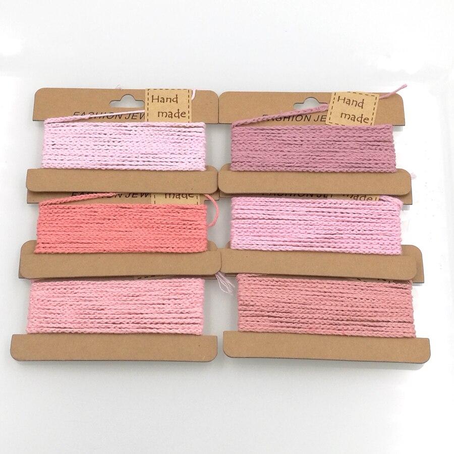 Ручной вязки двор 100% хлопок шнур органических крючком Fade розовый DIY аксессуары эко-безопасной EA02