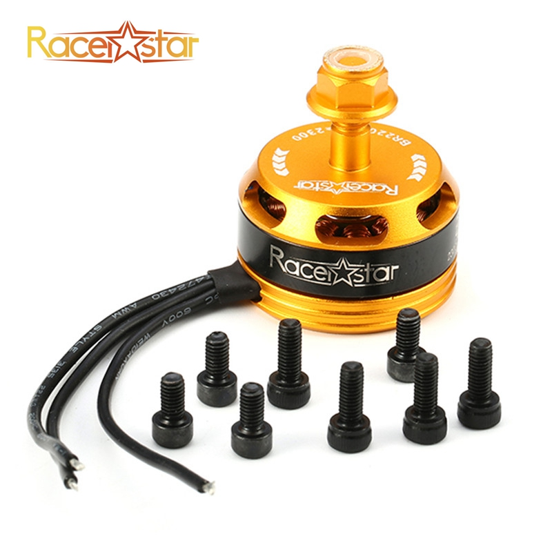 Free Shipping Racerstar Racing Edition 2205 BR2205 2300KV 2-4S Brushless Motor CW CCW Yellow For QAV250 ZMR250 260 Racing Drone lhi fpv 4x mt2206 2300kv cw ccw fpv brushless motor 2 4s 4 pcs racerstar rs20a lite 20a blheli s bb1 2 4s brushless esc
