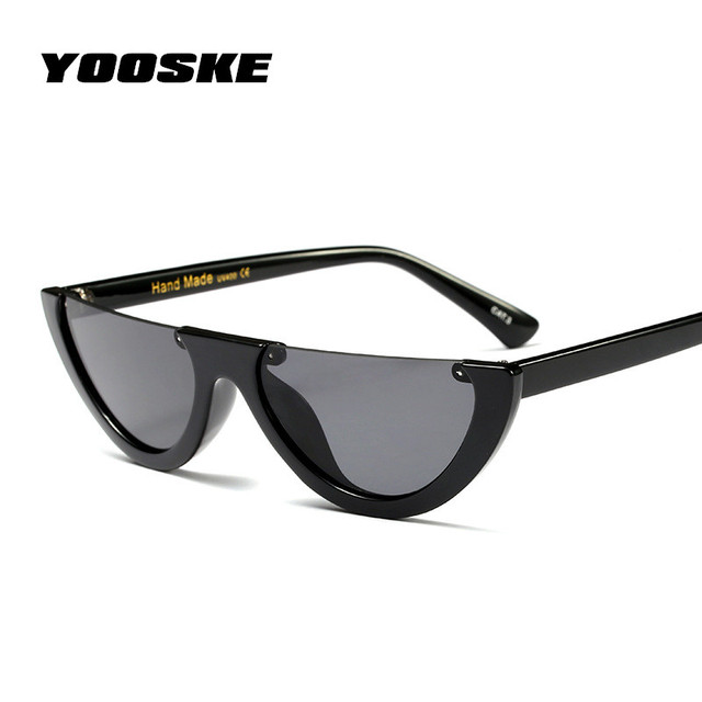 5fcda607ee0 Yooske half frame cat eye sunglasses women small size cool fashion jpg  640x640 Half rim gafas
