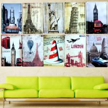 [  Sun86 ] PISA Metal Painting Wall Bar Home Art Decor Cuadros Mix Order 30X20CM A-6162