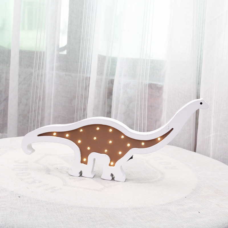 Dinosaur Night Light 3D light lamp wood LED Energy Saving Bedroom desk table Lamp Children's Room Decoration light IY304123-14 novelty magnetic floating lighting bulb night light wood color base led lamp home decoration for living room bedroom desk lamp