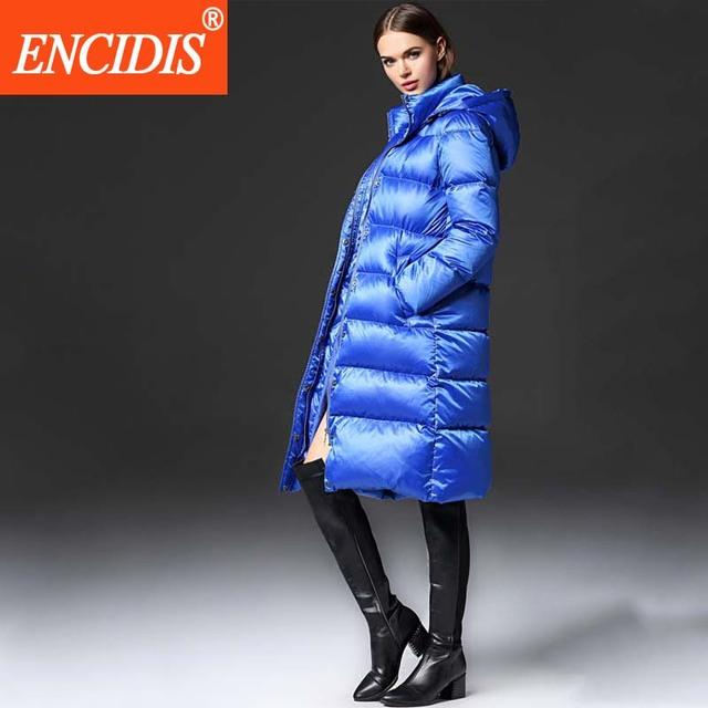 Europa American Style Chaqueta de Invierno Más El Tamaño de Las Mujeres Abajo escudo 2016 Nueva Moda chaqueta de las Mujeres Largas Abrigos de Invierno Parka M332