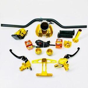 Image 4 - Kit de guidão para scooter, conjunto com amortecedores de disco de freio, peças de ajuste para jog dio cuxi bws