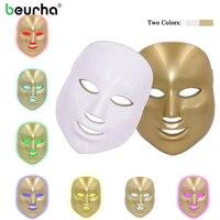 Beurha 7Colors Light Photon Electric LED Facial Mask Skin Care Skin Rejuvenation PDT Anti Acne Wrinkle