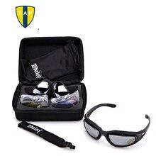 C5 gafas Militares Hombres Motocycle Táctico Gafas Gafas 4 Lentes Polarizadas gafas de Sol Al Aire Libre A Prueba de Viento Gafas