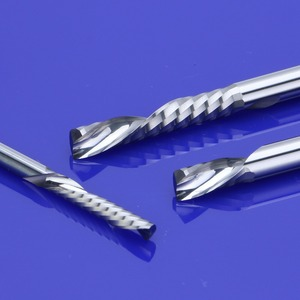 Image 4 - 10 قطعة 3.175x17 مللي متر AAA اليد اليسرى أسفل القاطع دوامة الفلوت واحد CNC بت التوجيه