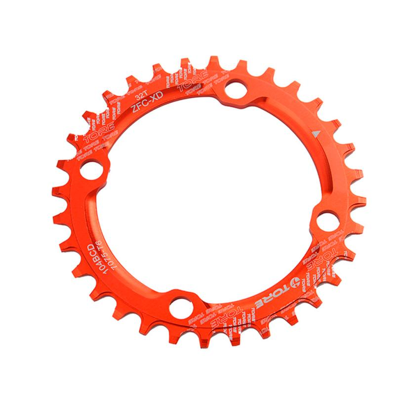 Cycling Exercise 104BCD 34T Ultralight Alloy Bike Bicycle Chainring Circular Round Chainwheel Bike Accessories Bicycle Gearwheel