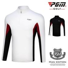 PGM Golf Спортивная футболка осень зима спортивная одежда с длинными рукавами ветрозащитная теплая футболка для гольфа для мужчин размер m-xxl