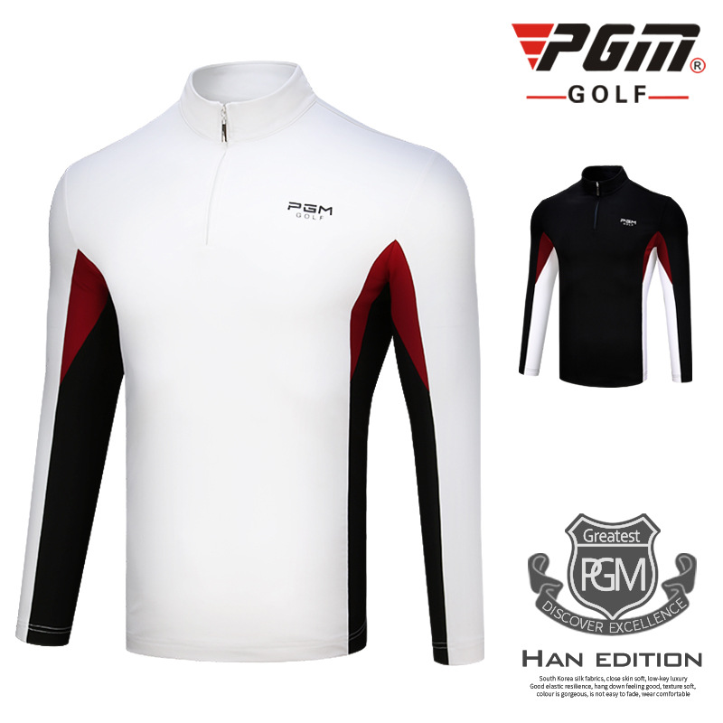 2018 PGM Golf SPORT T-shirt automne hiver à manches longues Sportswear coupe-vent chaud Golf T-shirt pour homme taille M-XXL
