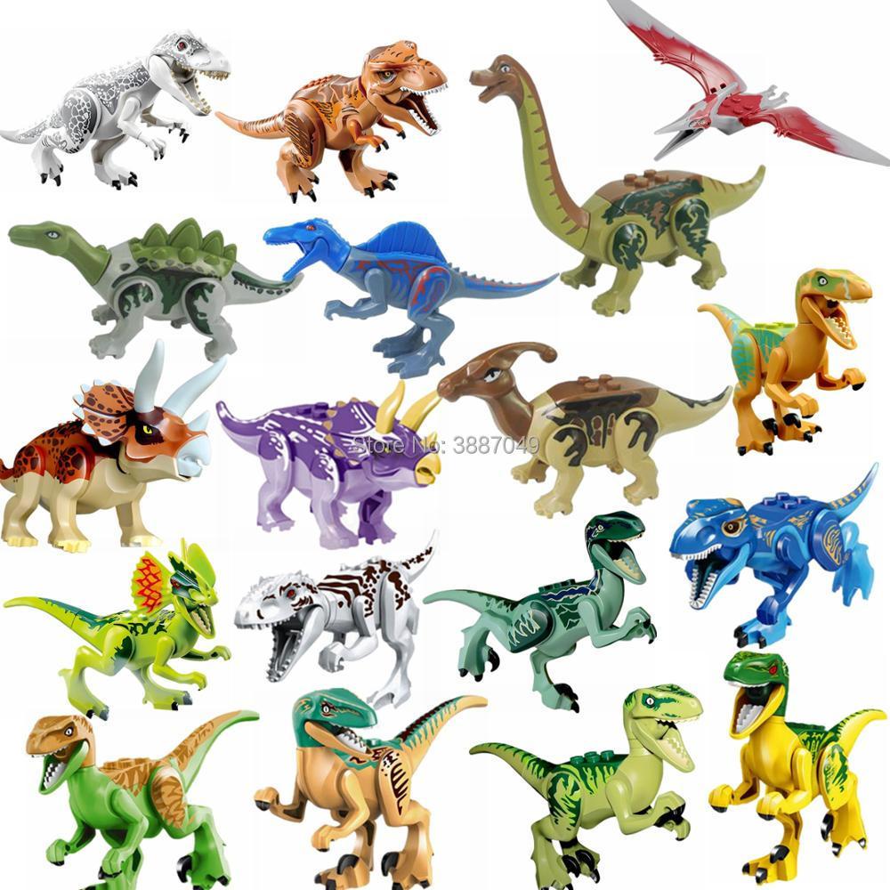 Locking Figurine Jurassic Dinosaurs Rex Pterosauria Tyrannosaurus Triceratops Figurines Toys for Children Jurassics Dinosaur Kid