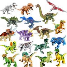 Vergrendeling Beeldje Jurassic Dinosaurussen Rex Pterosauria Tyrannosaurus Triceratops Beeldjes Speelgoed Voor Kinderen Jurassics Dinosaurus Kid