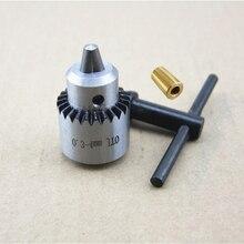 Профессиональный Ручной Сверлильный Патрон 0.3-4 мм JTO Крепление Станков С Латунь Вал Род fit 3.17 мм Вала двигателя Хобби Инструмент