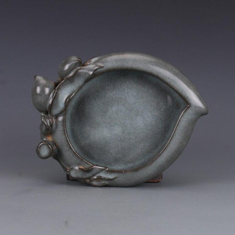 Vaisselle Antique en porcelaine de songdynastie | Lavage de pêche glaçage vert cendré, artisanat peint à la main, décoration, Collection et ornement, livraison gratuite
