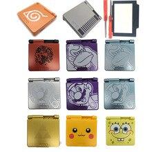 5 zestawów dla GBA SP pełna obudowa Shell skrzynki pokrywa wymiana dla Gameboy Advance SP