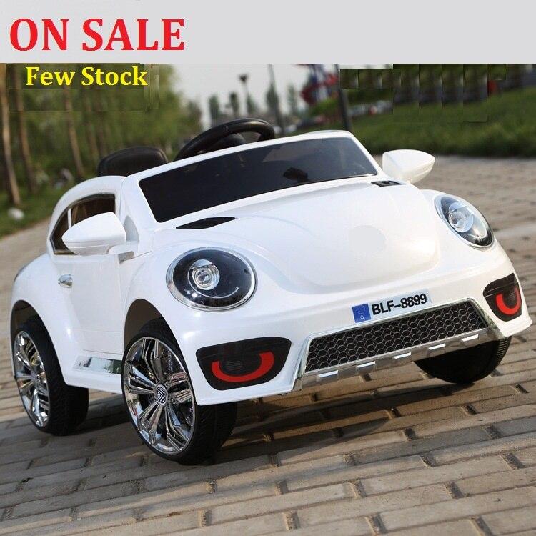 SUR VENTE!! la new Beetle enfants électrique de voiture électrique double double entraînement roue swing quatre lumineux électrique bébé poussette ca