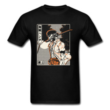 Pirate Bounty Hunter T-shirt Men One Piece Tshirt Samurai Spirit Zoro Tops Vintage Anime Tees Luffy Friend Brother Print T Shirt