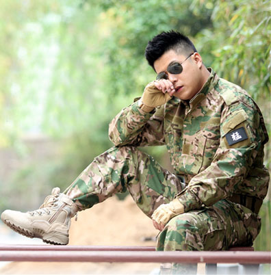 ФОТО Mens Cotton Camouflage Suit Airsoft Paintball Field Training Military Uniform Set Includes Jacket & Tactical Pants CP Multicam