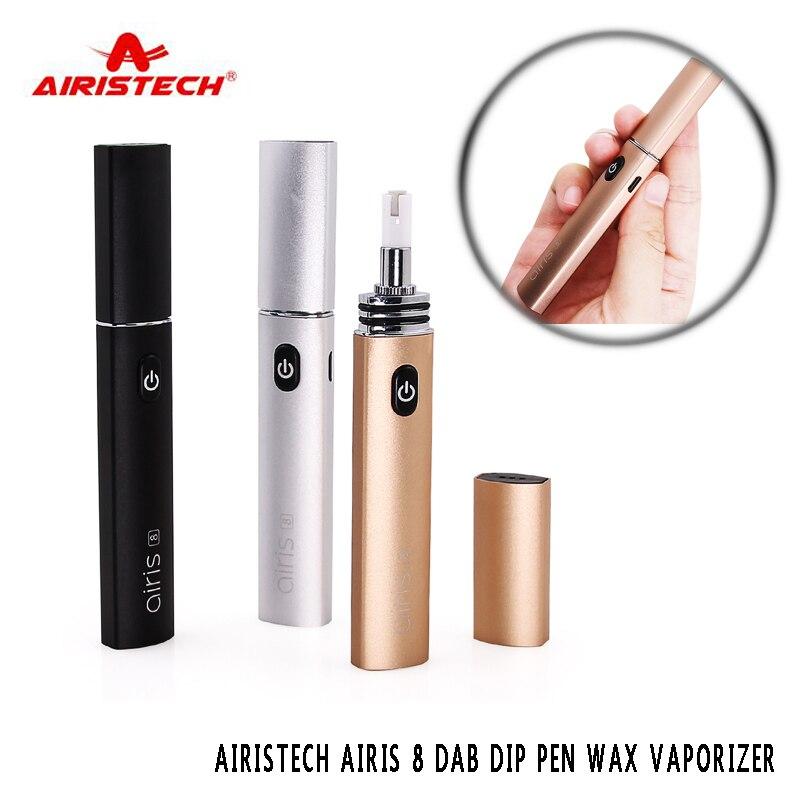 Origine Airistech Airis 8 vaporisateur dab Dip stylo CIRE Vaporisateur 420 mah cigarette électronique kit avec chaleur Instantanée bobine ecigarette