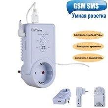 Умная розетка GSM с датчиком температуры, настенный выключатель с поддержкой USB и SIM карты, с контролем температуры, русский и английский языки