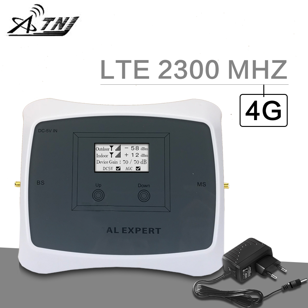 ATNJ 4G 2300 MHz Cellular Booster TDD Band 40 LTE 2300 2400 Mobile Phone Signal Repeater 70dB Gain AGC 4G Amplifier For India