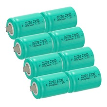 Anmas Power 8Pcs 1.2V Ni-CD 4/5 Sub C 1400mAh Rechargeable Battery Green SC Ni-CD Cell with Welding Tabs все цены